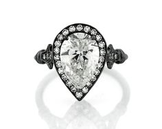 Pear shaped diamond engagement ring!