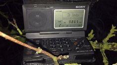 Sony ICF-SW100: AIR New Delhi 9865 kHz, Bengaluru, India