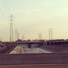 Los Angeles River and Bridge