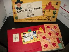 board games from the 1950's | Found on osagejake.wordpress.com ..Paladin, Paladin, where did you roam? A great song from the TV series. And Richard Boone was the man. Sexy!