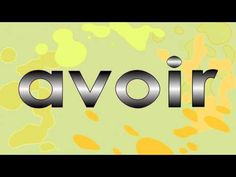 Verbe avoir au présent de l'indicatif - alain le lait - YouTube French Verbs, French Grammar, French Teaching Resources, Teaching French, How To Speak French, Learn French, Verb Song, French Songs, Core French