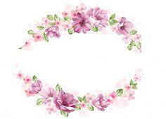 Png Floral, Arte Floral, Flower Backgrounds, Wallpaper Backgrounds, Flower Frame, Flower Art, Molduras Vintage, Boarders And Frames, Diy And Crafts