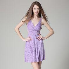 Smooth drape sling Lingerie lace Nightdress woman sexy beauty back home big yards - free shipping worldwide