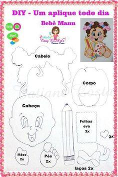 Best 12 Molde e. Foam Crafts, Preschool Crafts, Paper Crafts, Paper Piecing Patterns, Felt Patterns, Felt Templates, Diy Magnets, Silhouette Curio, Felt Quiet Books