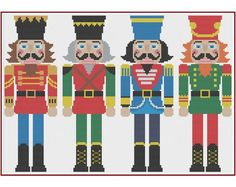 Nutcracker Counted Cross Stitch Pattern X-Stitch PDF Cross Stitch Fabric, Cross Stitch Needles, Counted Cross Stitch Patterns, Cross Stitching, Cross Stitch Embroidery, Hardanger Embroidery, Beaded Cross Stitch, Dmc Embroidery Floss, Embroidery Patterns