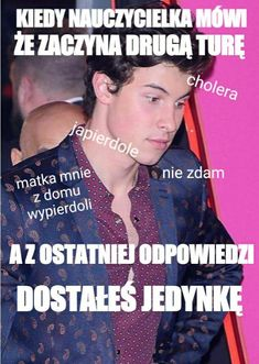 Very Funny Memes, Wtf Funny, Polish Memes, Shawn Mendes Memes, True Stories, Poland, Yup, Husband, Celebrities
