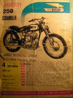 1966 Ducati 250 Scrambler - original broucher from Triangle Motorclcles, Chicago