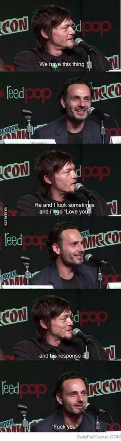Norman Reedus (Daryl Dixon) & Andrew Lincoln (Rick Grimes)