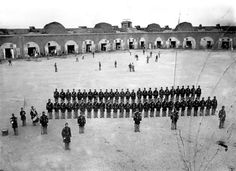 Fort Pulaski Savannah GA.  This was taken during the civil war and is thought to be the first picture taken of a baseball game.  pinned by heywardhouse.org
