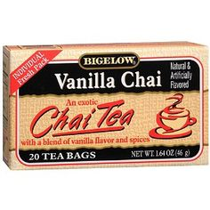 Bigelow Vanilla Exotic Chai Tea (my decadent indulgence)