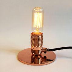 FRAMA E27 Table Lamp Copper Copper Material, Light Decorations, Table Lamp, Bulb, Led, Lighting, Diamond, Inspiration, Design