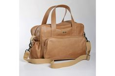 All Leather Nappy bag and changemat by Thandana Bag Co.