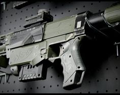 Custom Painted Nerf Stryfe by RazorFireCreations on Etsy Modified Nerf Guns, Nerf Mod, Rifles, Custom Paint, Weapon, Hand Guns, Death, Concept, Cosmetics