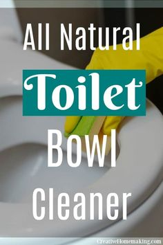 Easy all natural toilet bowl cleaner. One of the best cleaning products you'll find for the bathroom and one of my favorite bathroom cleaning hacks! Best Cleaning Products, Deep Cleaning Tips, Cleaning Recipes, House Cleaning Tips, Homemade Toilet Cleaner, Cleaners Homemade, Bathroom Cleaning Hacks, Toilet Cleaning, Professional Cleaning