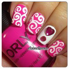 valentine by elaineqxoxo #nail #nails #nailart