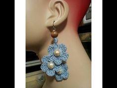 Crochet Tutorial- How To- Dangle Flower Earrings - YouTube