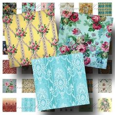 Vintage Wallpaper Patterns 1 inch square2 by CharmedMemoryCollage, $3,50