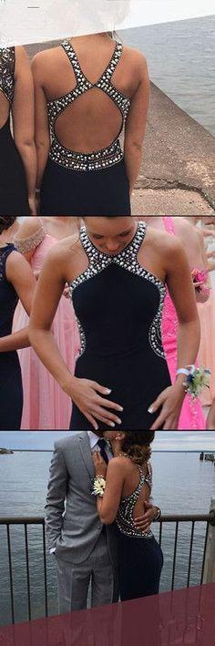Backless Prom Dresses,Beaded Prom Dress,Fashion Prom Dress,Sexy Party Dress,Custom Made Evening Dress Backless Mermaid Prom Dresses, Elegant Prom Dresses, Prom Dresses 2018, Beaded Prom Dress, Black Prom Dresses, Dance Dresses, Sexy Dresses, Evening Dresses, Fashion Dresses
