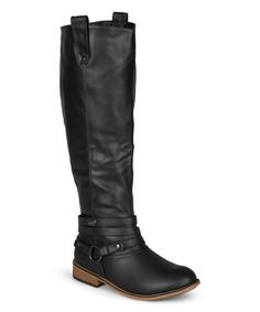 Another great find on #zulily! Black Walla Boot by Journee Collection #zulilyfinds