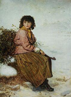 Sir John Everett Millais.  The Mistletoe Gatherer