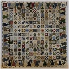 """Dear Jane Seattle to Surrey"" by Victoria Eyers.  Photo by Arnold's Attic: The Festival of Quilts 2015."