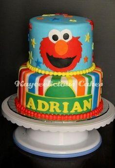 Elmo cake livs bday cake