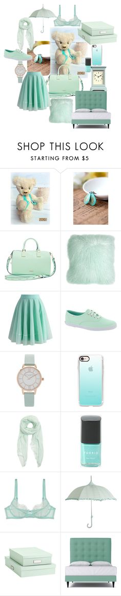 """""""Mint"""" by sovushka30 on Polyvore featuring косметика, Rebecca Minkoff, Pillow Decor, Chicwish, Keds, Olivia Burton, Casetify, Furla, Torrid и L'Agent By Agent Provocateur"""