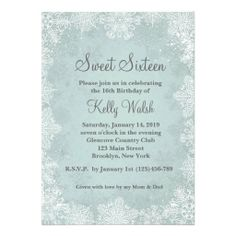 Our Little Snowflake First Birthday Invitation by LemonberryMoon ...