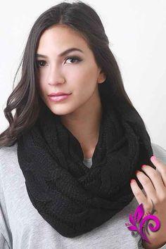 Interwoven Crochet Infinity Scarf