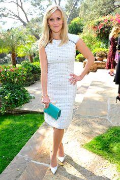 Reese Witherspoon in Carolina Herrera - 2015 Oscar Nominee Luncheon - HarpersBAZAAR.com