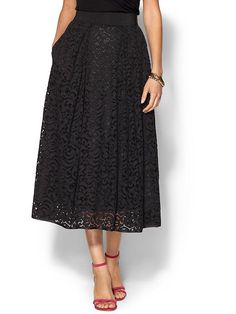 MILLY Lace 3/4 Skirt