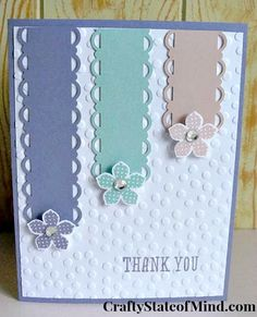 5 Minute Handmade Thank You Card for Spring! via CraftyStateofMind.com #stamping