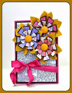 Χειροποίητη κάρτα απο χαρτόνι κανσον και τσόχα.  Σαμαρτζή - Βιβλιοπωλείο - Hobby - Καλλιτεχνικά: ΙΔΕΕΣ ΓΙΑ ΧΕΙΡΟΤΕΧΝΙΕΣ - ΧΑΛΚΙΔΑ