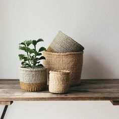 Stunning handwoven African sisal baskets made by women's co-operatives. Beautiful, stylish, handmade and Fairtrade storage baskets for the home.