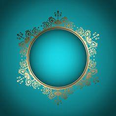 Fundo à moda decorativo com frame dourado Vetor grátis                                                                                                                                                                                 Mais