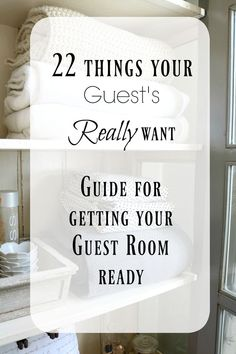 22 Guest Bedroom Ideas to get your room ready for hosting for the holidays or anytime! I love to have fresh towels, snacks, and even a wifi sign so your guests enjoy their visit. #guestroom #holidayentertaining