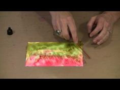 Alcohol Ink On Yupo - Copic, Ranger & More Techniques! by Joggles.com - YouTube Part 2