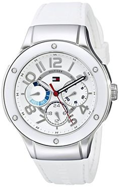 Tommy Hilfiger Womens 1781310 Sport Lux Stainless Steel CrystalAccented Watch -- You can find more details by visiting the image link.