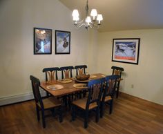 Redhawk dining room 2301 with new flooring