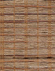 Woven wood Roman shades from Lutron. www.lutron.com/fabrics
