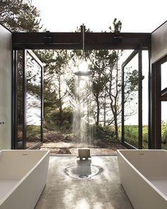 Les salles de bains ouvertes sur la nature