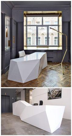 Custom Modern Reception Desk Design
