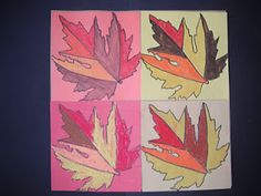 Fab Andy Warhol & Andy Goldsworthy mash up art my 3rd graders created!