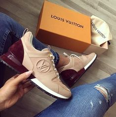 Great Louis Vuitton Nude-Dark Red Sneakers / Only Me 💋💚💟💖✌✔👌💙💚 xoxo Sneakers Mode, Sneakers Fashion, Fashion Shoes, Shoes Sneakers, Shoes Heels, Ladies Sneakers, High Heels, Hot Shoes, Crazy Shoes