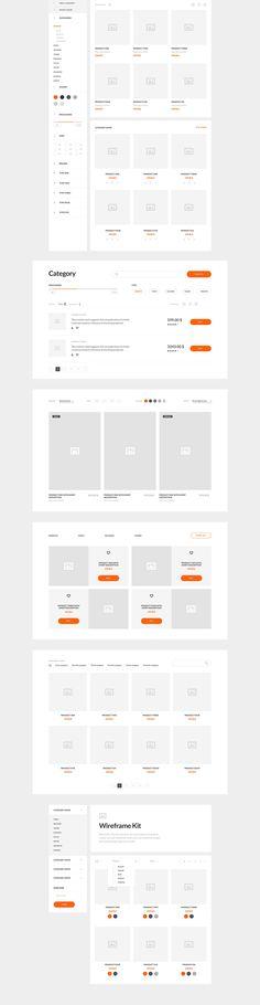 Wireframe Kit для интернет-магазинов