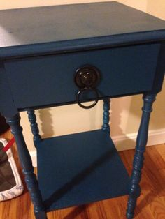 painted end table -- behr peacock tail