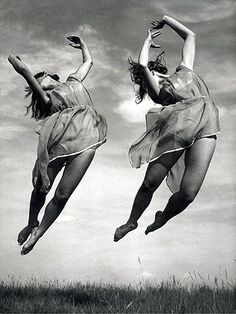 Dancers 1950`s,throwing themselves about