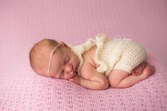Newborn Ruffled Romper, Baby Girl Clothes, Crochet Romper, Photography Props, Newborn Clothes, Newborn Baby Clothes, Baby Girl Rompers - pinned by pin4etsy.com