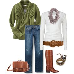 """White T & Jeans"" by heather-rolin on Polyvore"