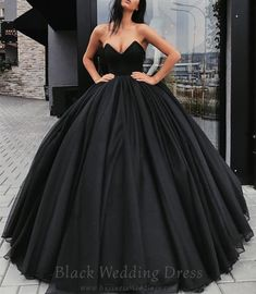 The black wedding dress… Until now the mere thought of a black wedding dress would have been unimaginable. But bridal fashion has undergone a huge transformation within just the last few years where color is concerned. White is no longer the only color option for the wedding dress today. For the first time in modern history, color is being introduced to wedding dresses. Even black. #BlackDress #BlackWeddingDress #BlackWeddingGown #BlackWeddingDresses